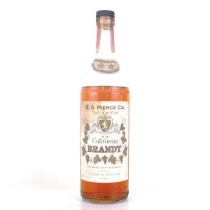 S.S. Pierce Co 6 Year Old California Brandy 1950s
