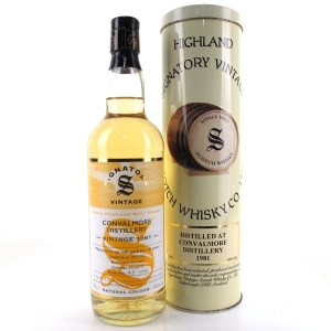 Convalmore 1981 Signatory Vintage 20 Year Old