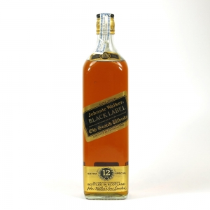 Johnnie Walker Black Label 12 Year Old King Size 1980s / 93.75 Cl Front