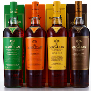 Macallan Edition No.1-4 Collection 4 x 75cl / US Imports