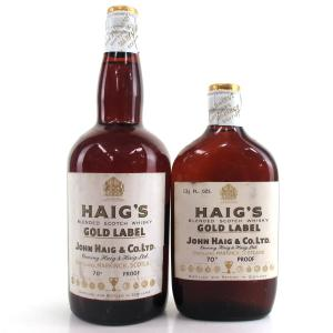 Haig's Gold Label circa 1950/1960s / with Half Size Bottle