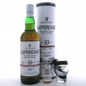 Laphroaig 10 Year Old Cask Strength Batch #010 / with Glass & Feis Ile 2018 Miniature 1.5cl