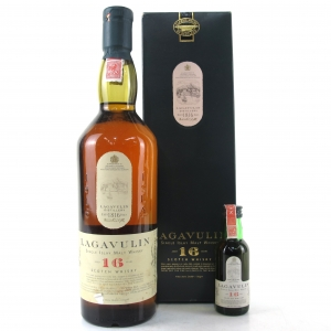 Lagavulin 16 Year Old White Horse / Including Matching Miniature