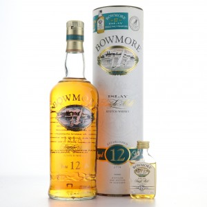 Bowmore 12 Year Old Screen Print & 17 Year Old Miniature