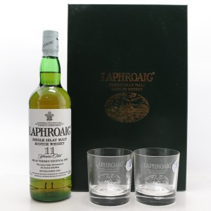 Laphroaig 11 Years Old Feis Ile 2003 / 2 x Glasses