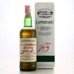 Laphroaig 15 Year Old 1985 / Cinzano Import