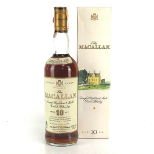 Macallan 10 Year Old Circa 1980s / Giovinetti Import