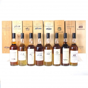 Flora and Fauna 8 Bottle Wooden Box Collection / Including Bladnoch
