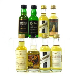 Scotch Whisky Miniature Selection 8 x 5cl / Including Ardbeg Uigeadail