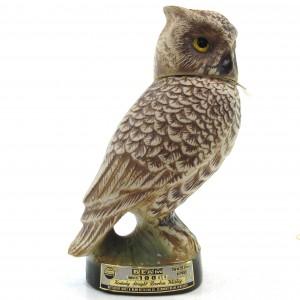 Jim Beam 100 Months Old Screech Owl Decanter 1970s