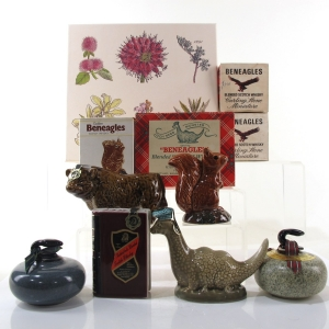 Beneagles 1970s Miniature Decanter Selection / Including Loch Ness Monster