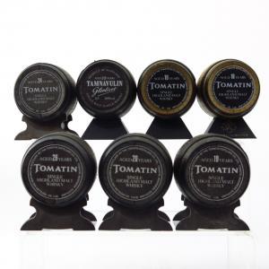 Tomatin & Tamnavulin Whisky Barrel Miniatures 7 x 5cl