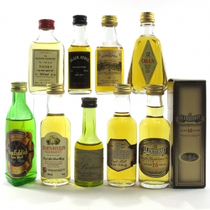 Highland And Speyside Miniature Selection x 9 / Including Oban 12 Year Old 1980s