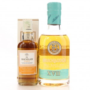 Bruichladdich 17 Year Old XVII 20cl and Macallan Amber 5cl