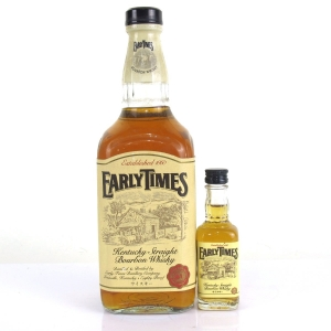 Early Times Kentucky Straight Bourbon / with 5cl Miniature