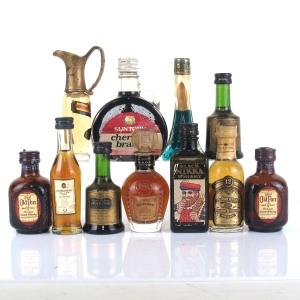 Miscellaneous Spirit & Liqueur Selection 11 x Miniature