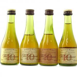 Balvenie 10 Year Old Founder's Cognac Bottle Miniatures 4 x 5cl