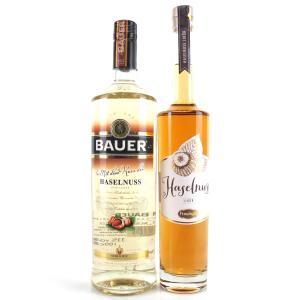 German 'Haselnuss' Hazelnut Liqueurs x 2