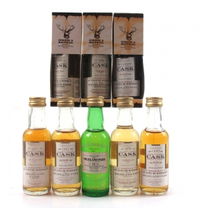Highland Park Miniature Selection 8 x 5cl / Including 1978 Cadenhead's Cask Strength 14 Year Old