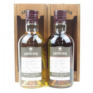 Aberlour Hand Filled Bourbon and Sherry 2 x 70cl