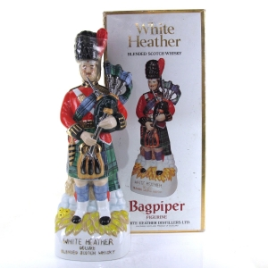 White Heather Bagpiper Figurine 1980s