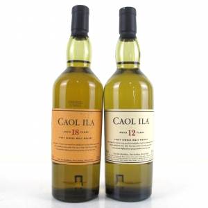 Caol Ila 12 and 18 Year Old 2 x 20cl