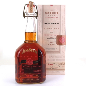 Jim Beam 200 Years of American History Decanter 1795 - 1995