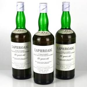 Laphroaig 10 Year Old 1970s / 3 x 26.4 Fl Oz