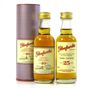 Glenfarclas 40 Year Old & 1988 25 Year Old Miniatures 2 x 5cl