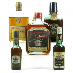 Brandy and Port Selection / 20cl and 50cl Bottles x 5