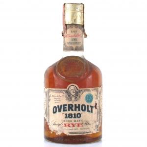 Overholt '1810' Straight Rye Whiskey 1970s / Giovinetti Import