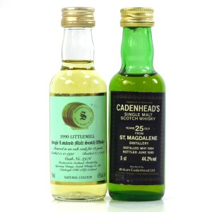 Lowland Closed Distillery Miniatures x 2 / Including St Magdalene 1964