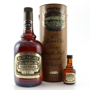 Bowmore 12 Year Old 1 Litre 1980s / Including Miniature