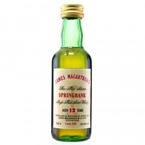 Springbank 12 Year Old James Macarthur Miniature 5cl