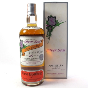 Port Ellen 1975 Silver Seal 25 Year Old / First Bottling