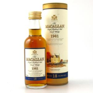 Macallan 18 Year Old 1981 Miniature 5cl