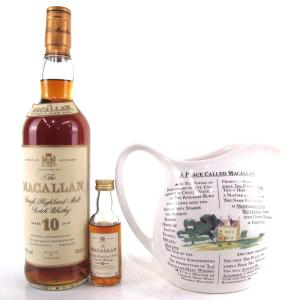 Macallan 10 Year Old 1990s / with Jug and Miniature 5cl