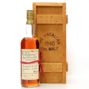 Macallan 1940 Handwritten Label / German Exclusive