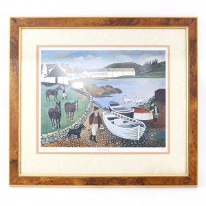 Alfred Daniels Distillery Prints x 4 / Glenfiddich, Laphroaig, Dalwhinnie, Glenlivet