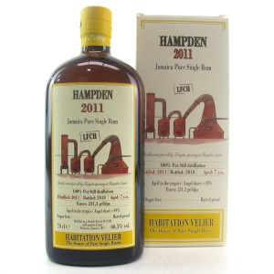 Hampden 2011 Habitation Velier 7 Year Old Jamaican Rum