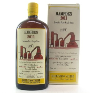 Hampden 2011 Habitation Velier 7 Year Old Jamaican Rum