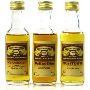 Closed Speyside Distillery Gordon and MacPhail Miniature Selection x 3
