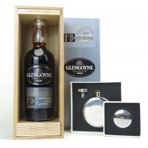 Glengoyne 25 Year Old / The First Fill Including Hip Flask and Cup