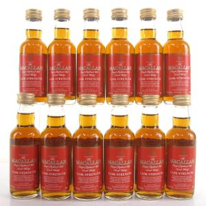 Macallan Cask Strength Miniatures 12 x 5cl / US Import