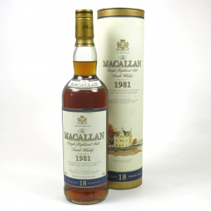 Macallan 1981 18 Year Old