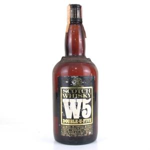 W5 Double U Five Scotch Whisky 1970s