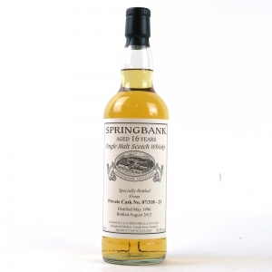 Springbank 1996 Single Cask 16 Year Old Private Bottling