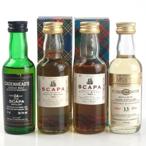 Scapa Miniature Selection 4 x 5cl / Including 1965 Cadenhead's 24 Year Old