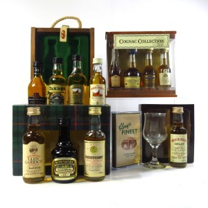 Scotch Whisky & Cognac Miniature Gift Sets 12 x 5cl / with Glass