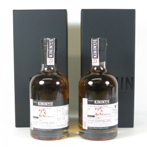 Kininvie 1990 23 Year Old Batch #001 and #002 2 x 35cl Front
